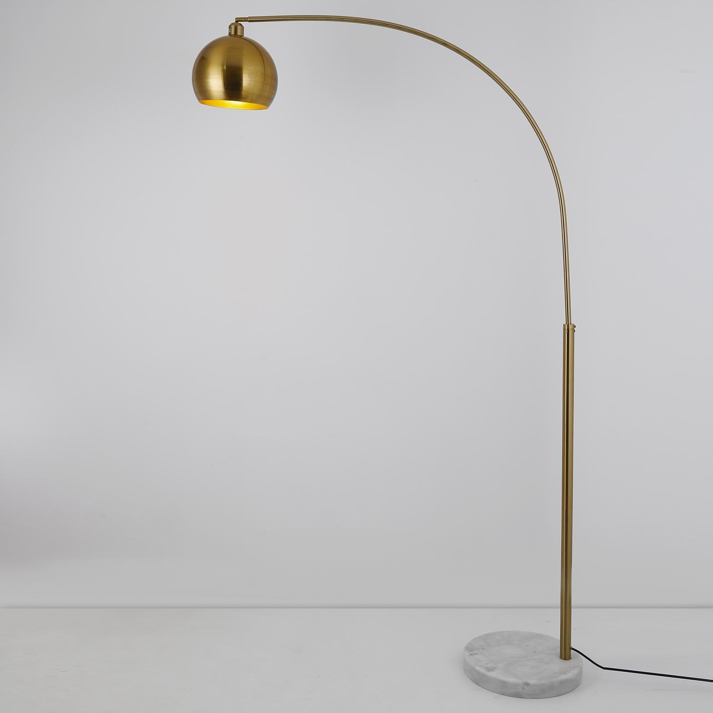 Lampada da terra Astral in metallo spazzolato color oro