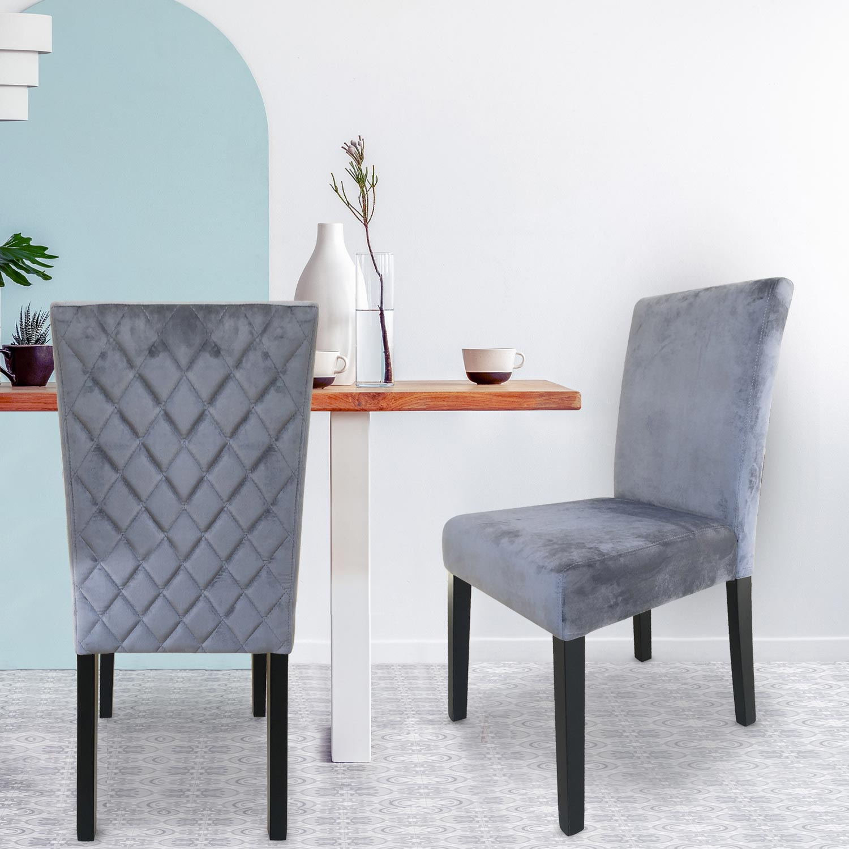 Set di 2 sedie Shaliman in velluto argento