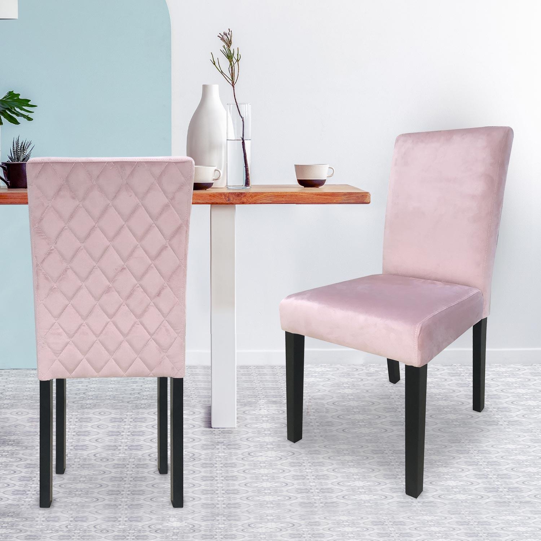 Set di 2 sedie Shaliman in velluto  Rosa