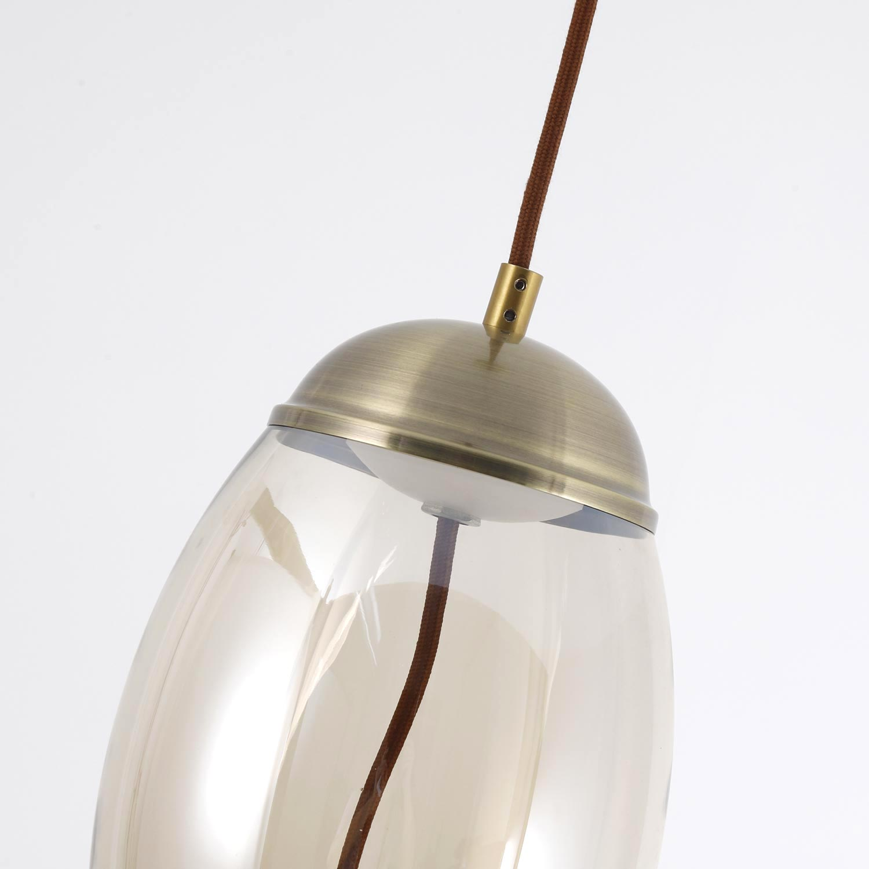 Lampadario LED Odalia Vetro trasparente fumé