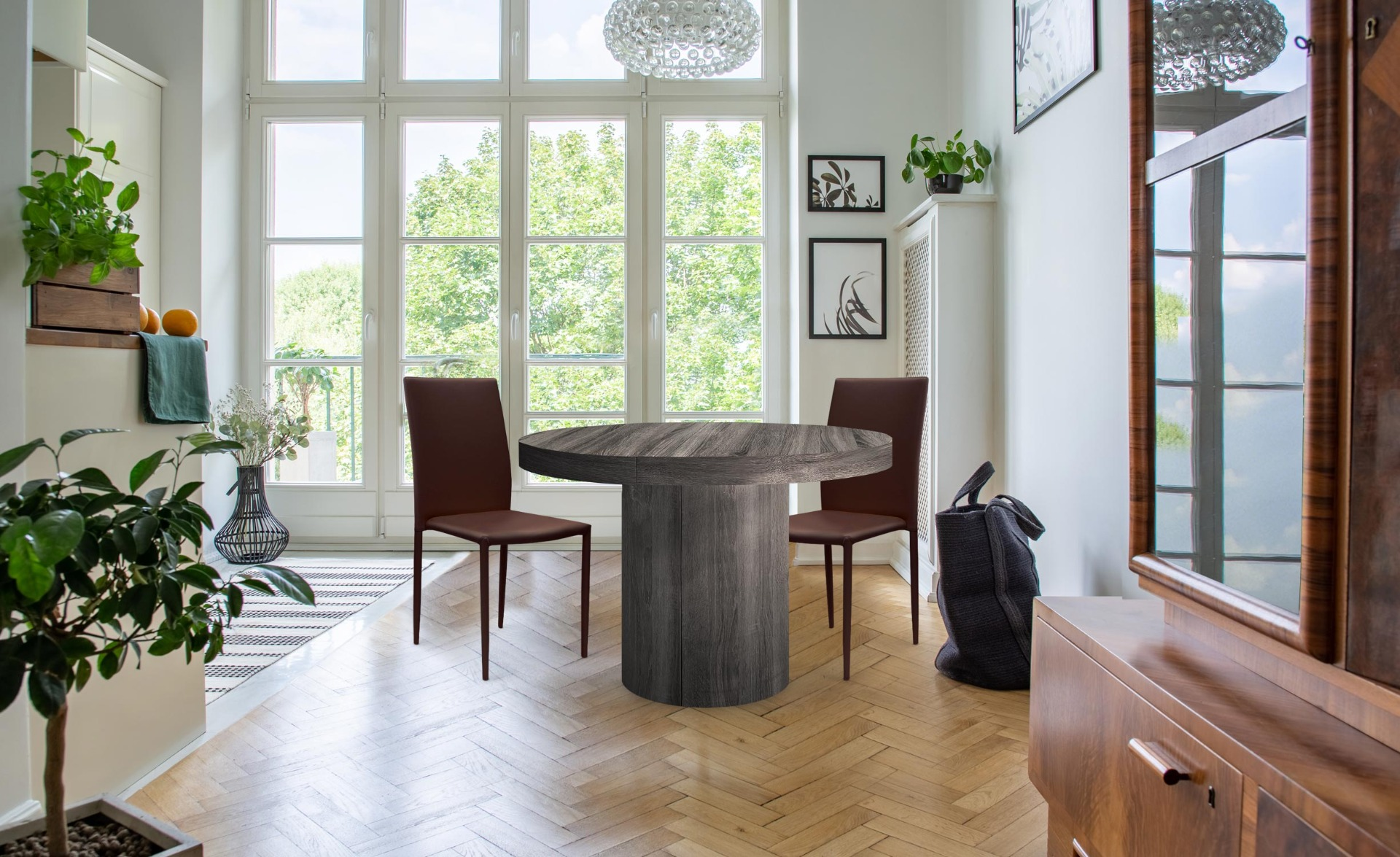 Set di 30 sedie impilabili Modan similpelle (PU) Marrone