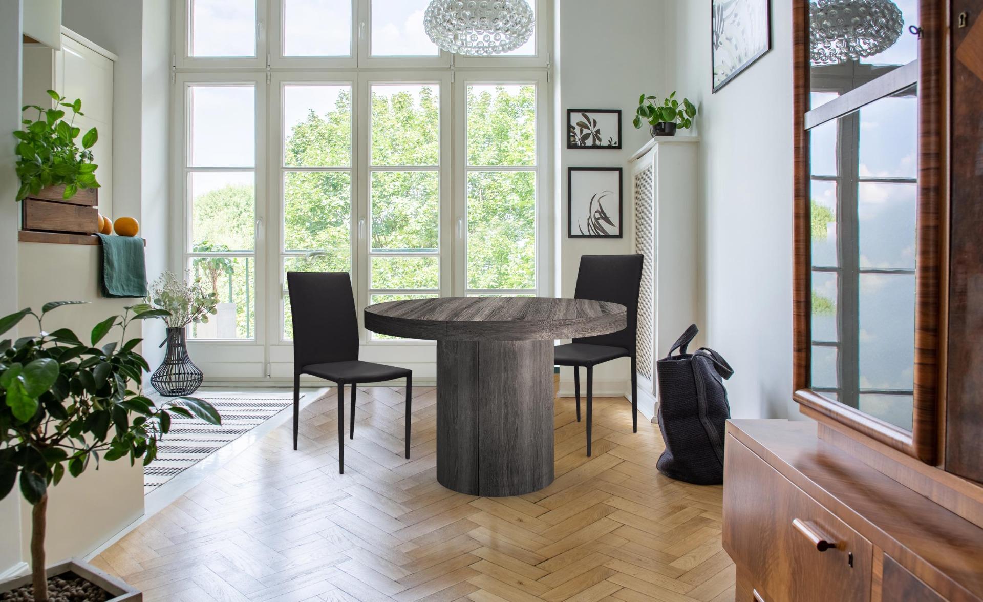 Set di 6 sedie impilabili Modan in similpelle (PU) nere