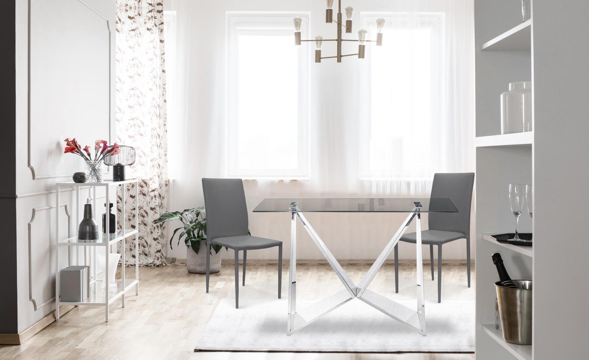 Set di 30 sedie impilabili Modan in similpelle (PU) grigie