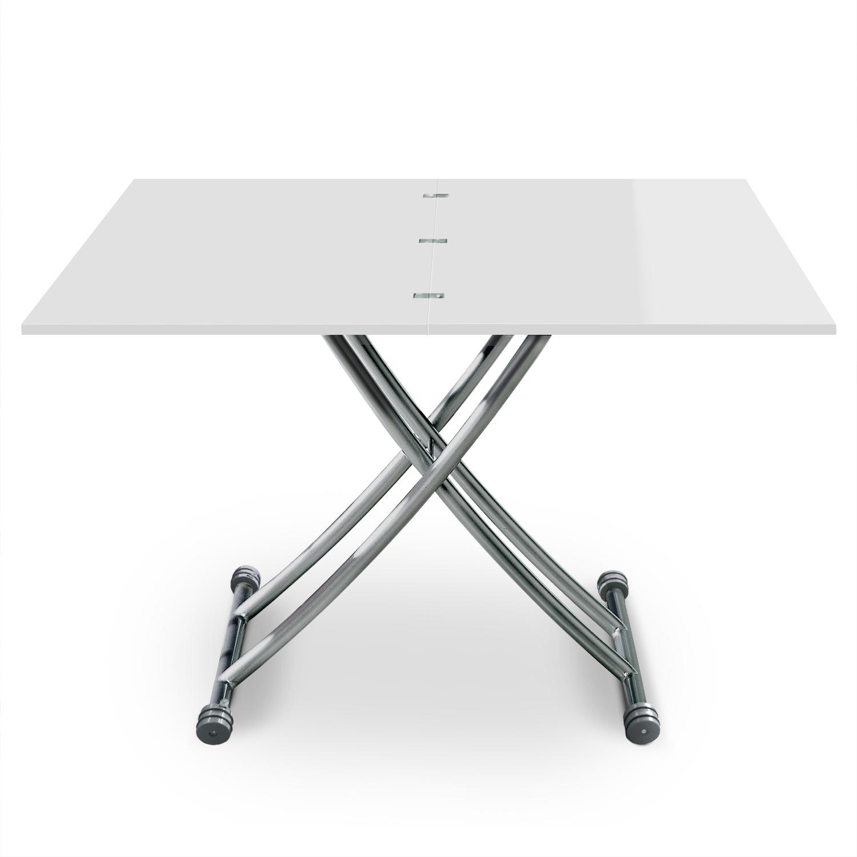 Tavolino alzabile Carrera laccato bianco