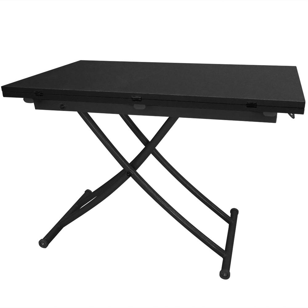 Tavolino alzabile Carrera colore nero carbone