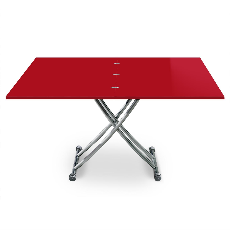 Tavolino alzabile Carrera XL colore rosso laccato