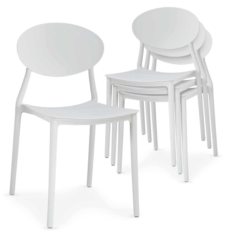 Lot de 4 chaises empilables Balagan Blanc