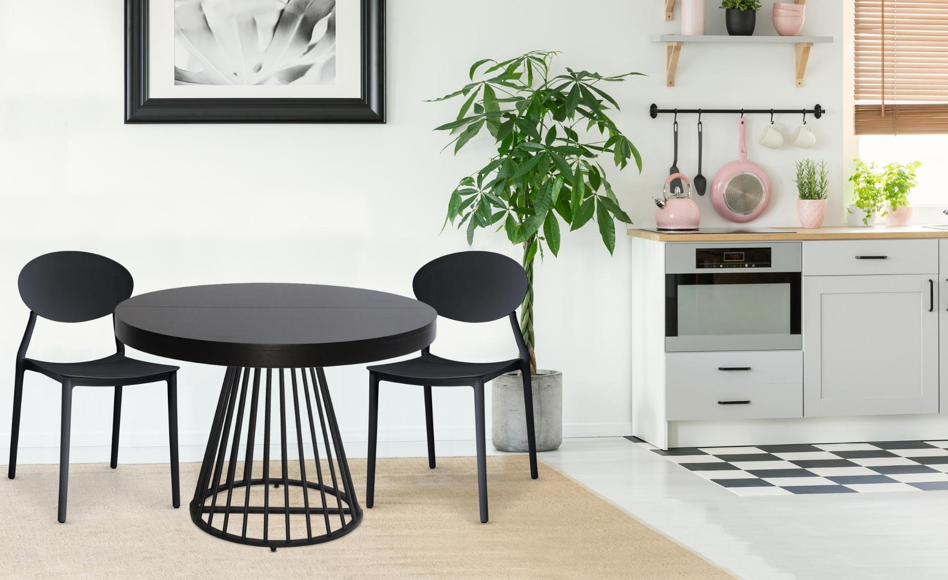 Set di 4 sedie impilabili Balagan nere