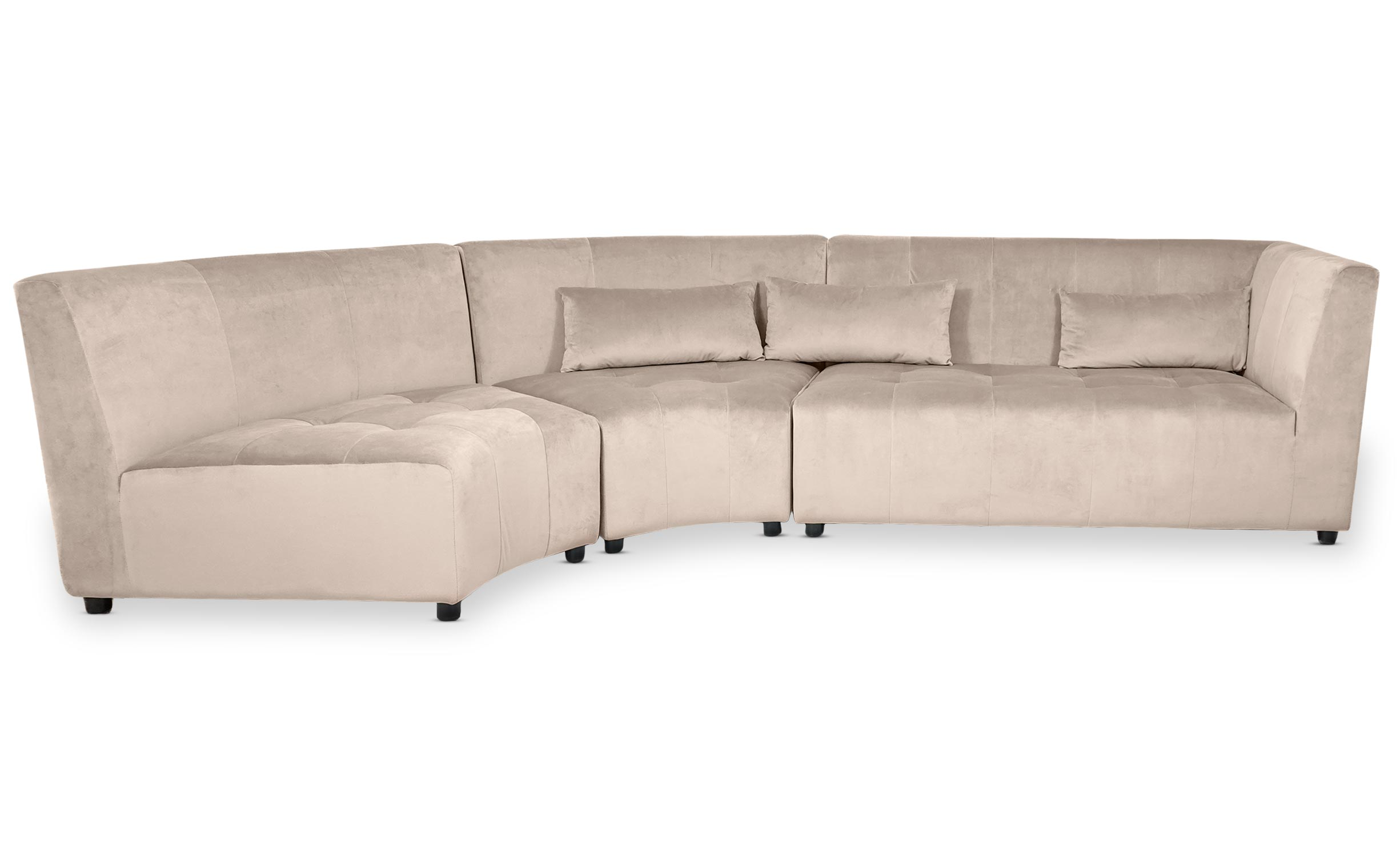 Canapé d'angle Dojo Velours Taupe
