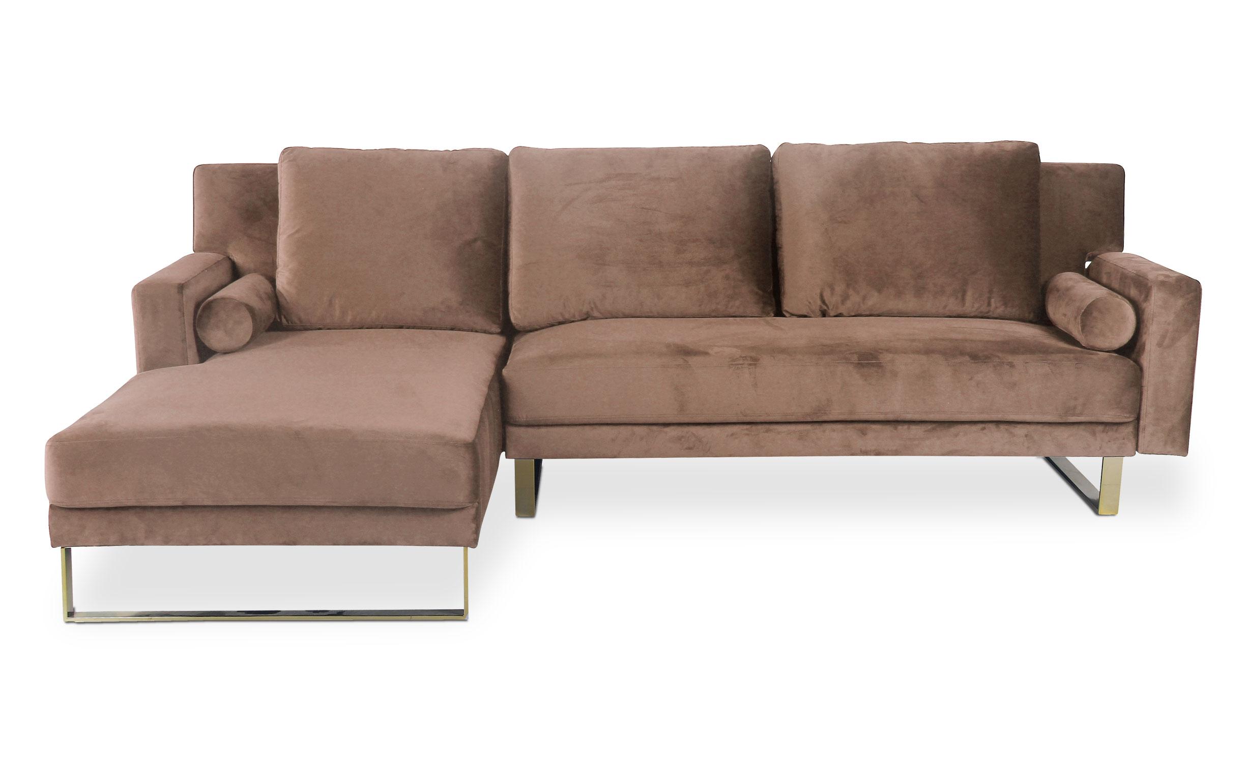 Canapé d'angle Nirvana Velours Taupe