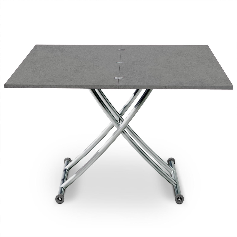 Tavolino Carrera ad effetto cemento