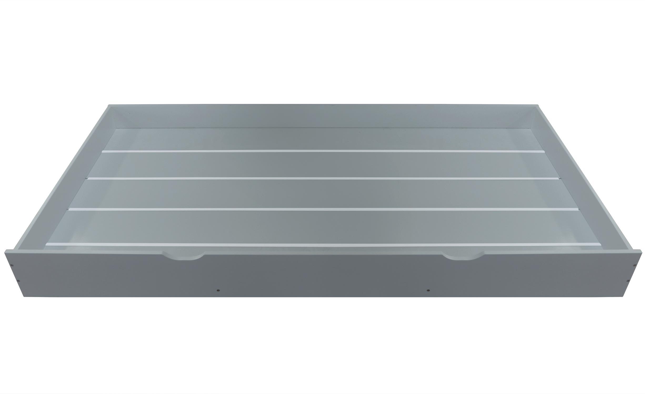 Cassetto adattabile sotto il letto per bambino Colibri grigio