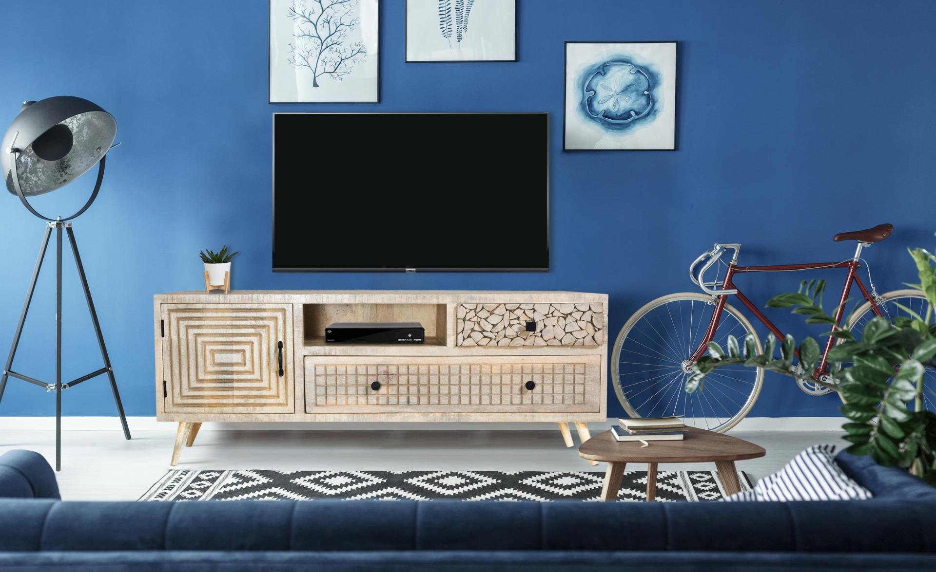 Mobile TV Corel in legno di acacia
