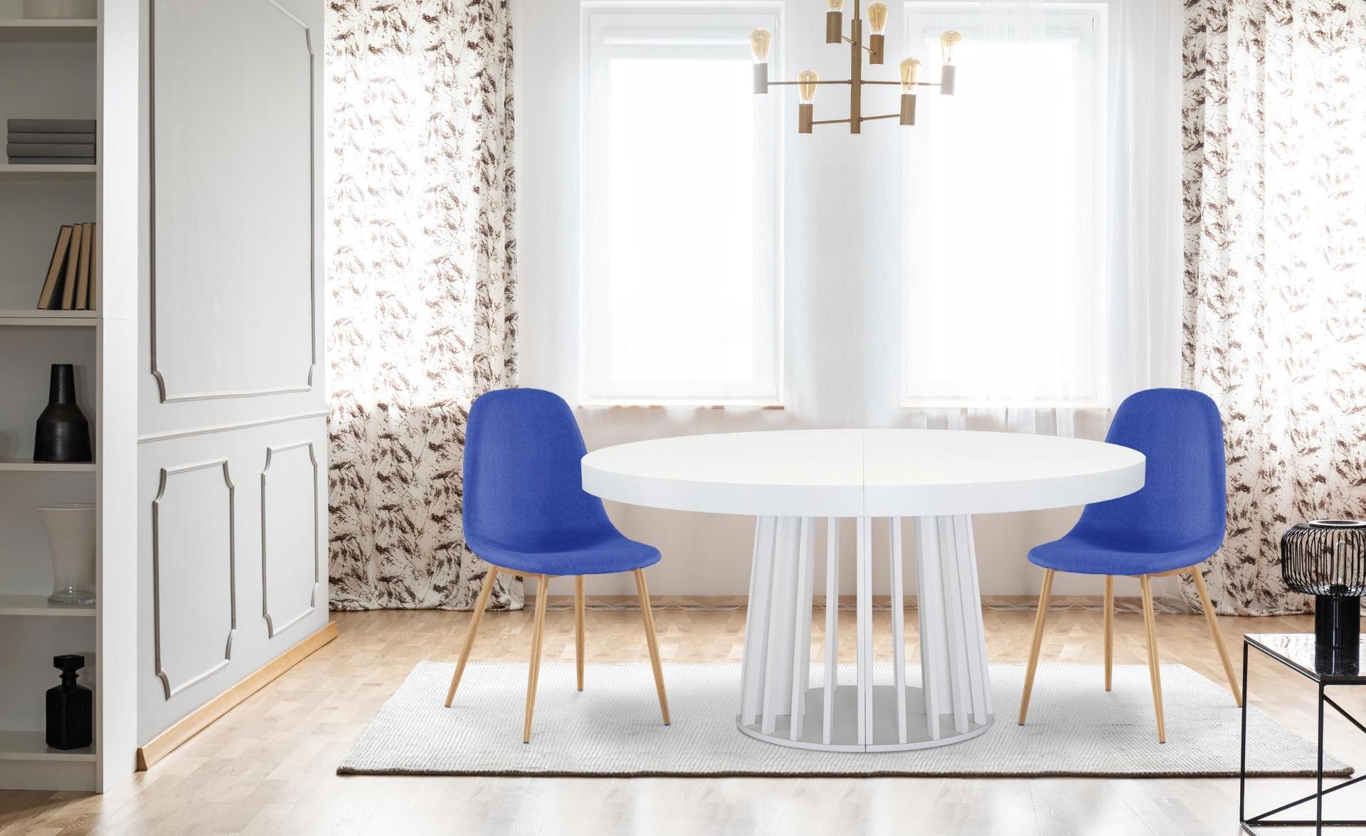 Set di 4 sedie scandinave Gao in tessuto blu