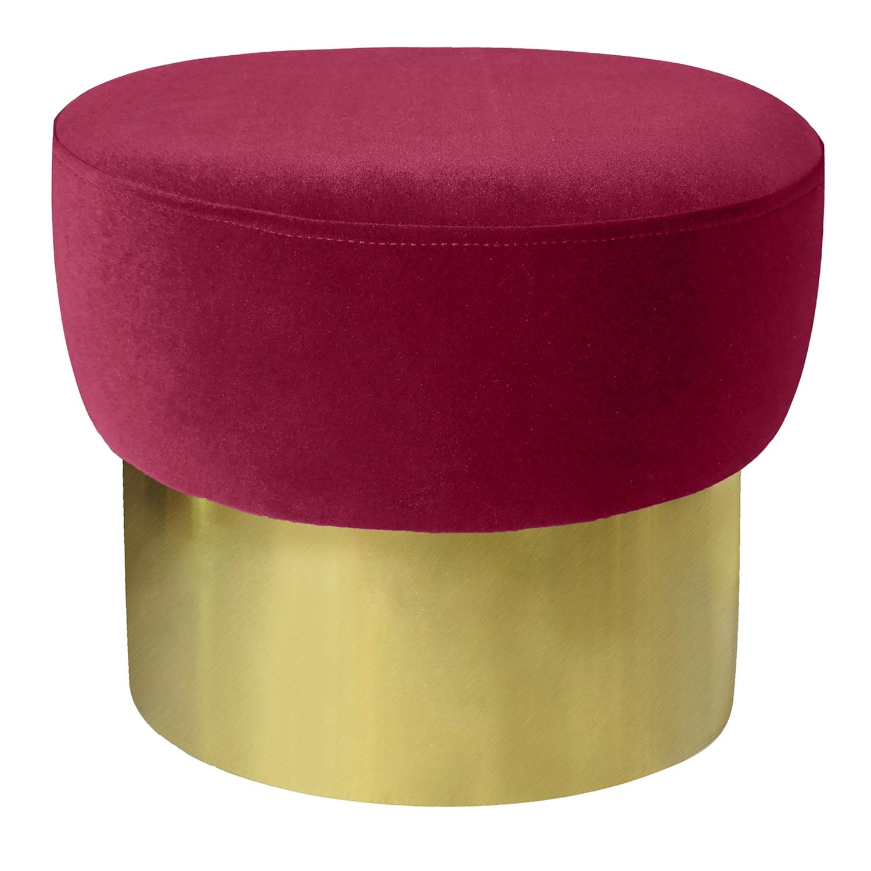 Sgabello Elia Velluto Rosso Piede dorato