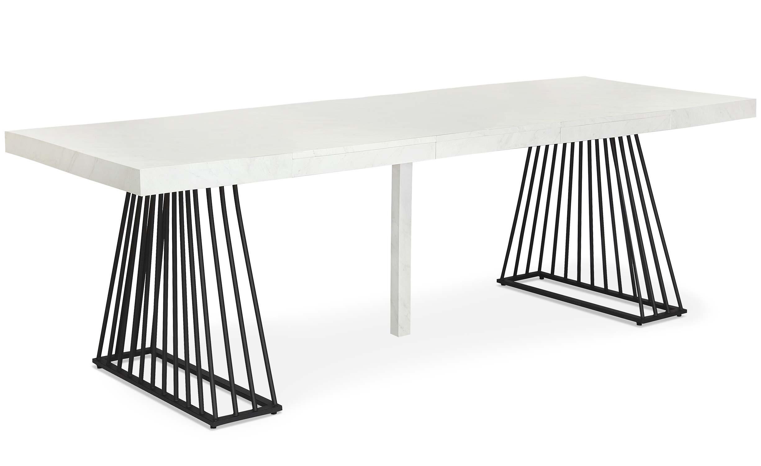 Tavolo allungabile Factory effetto marmo