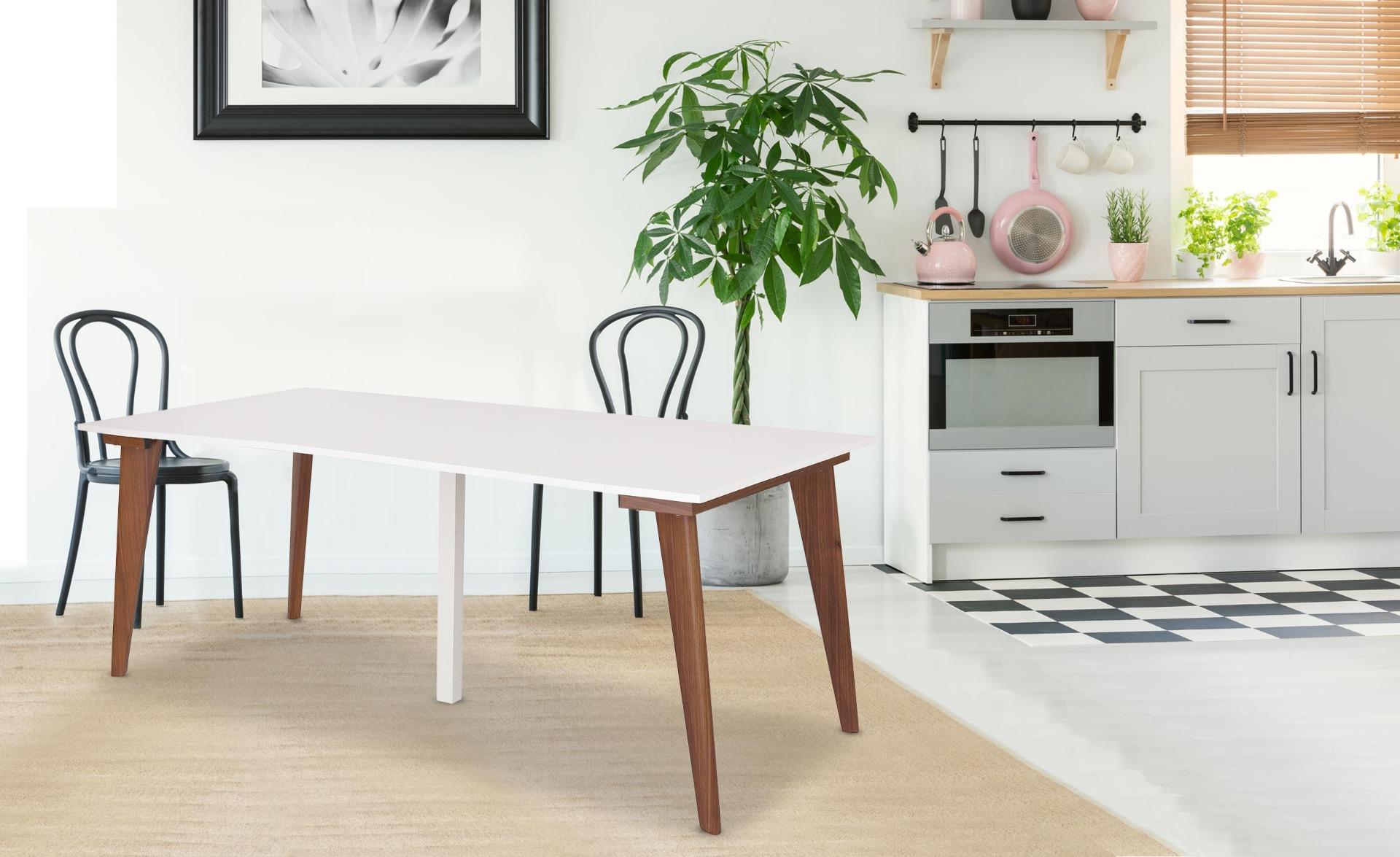 Tavolo consolle allungabile Flavie bianco