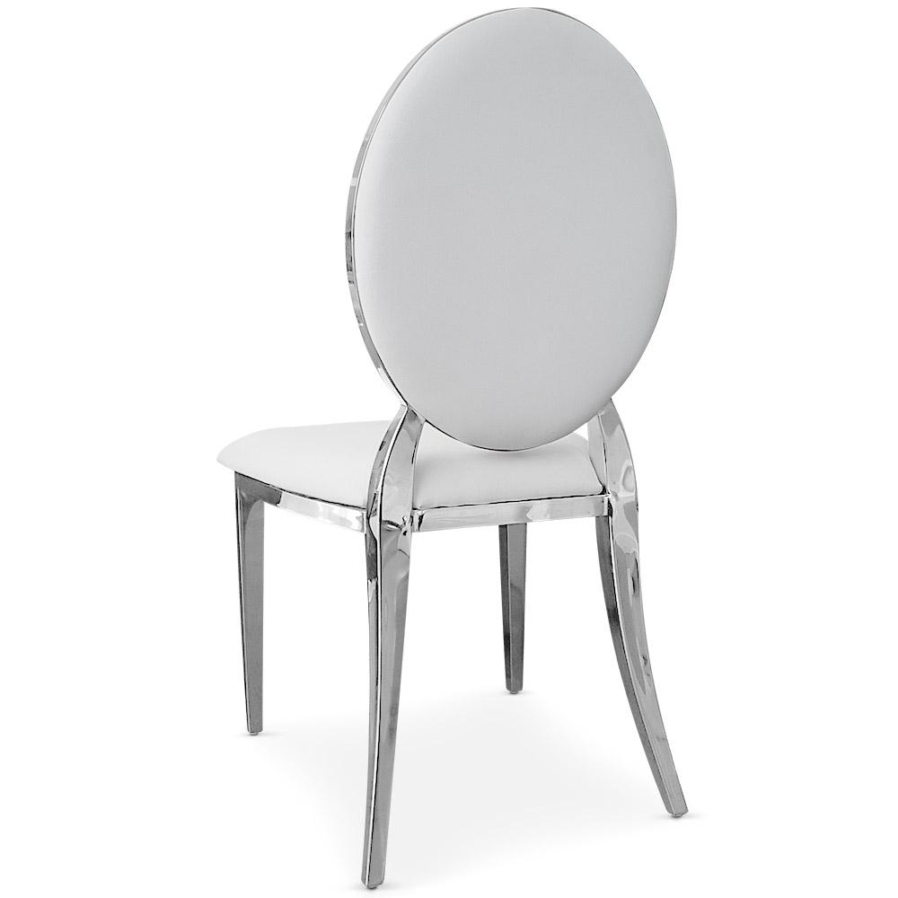 Set di 4 sedie a medaglione Sofia bianche
