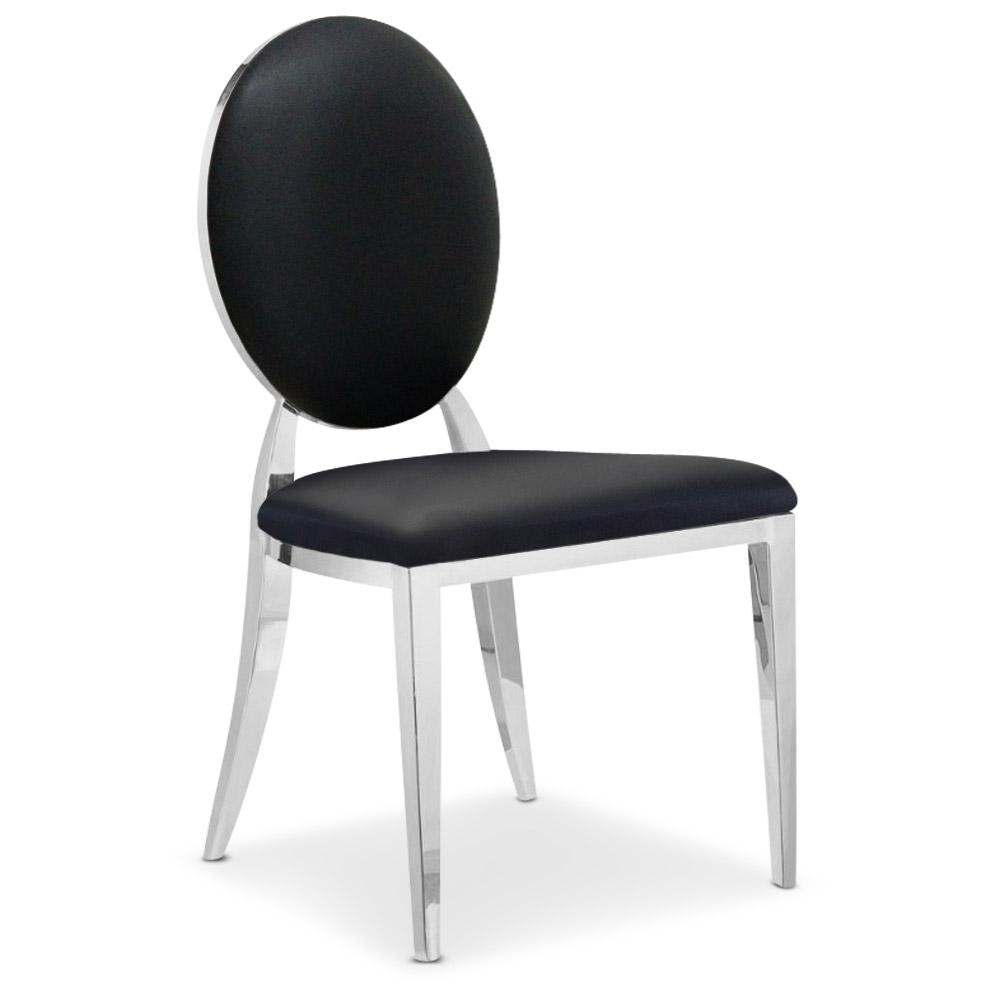 Set di 4 sedie Medaglione Sofia Nero