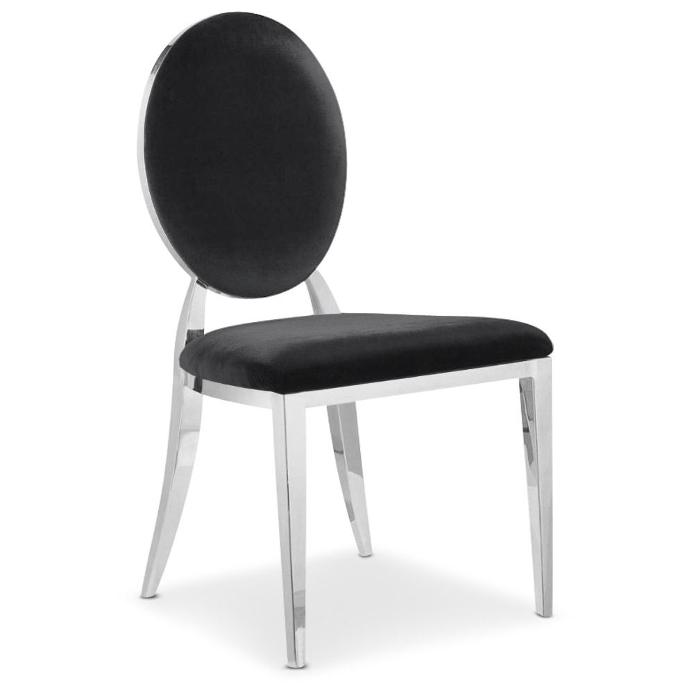 Set di 4 sedie Sofia in velluto Nero