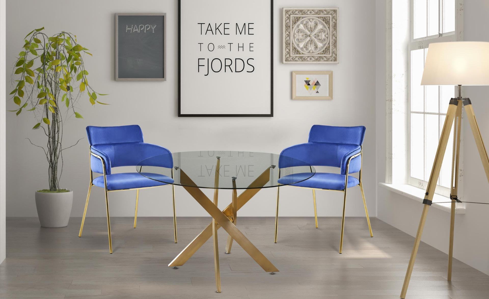 Set di 2 sedie / poltrone Ginko velluto Blu