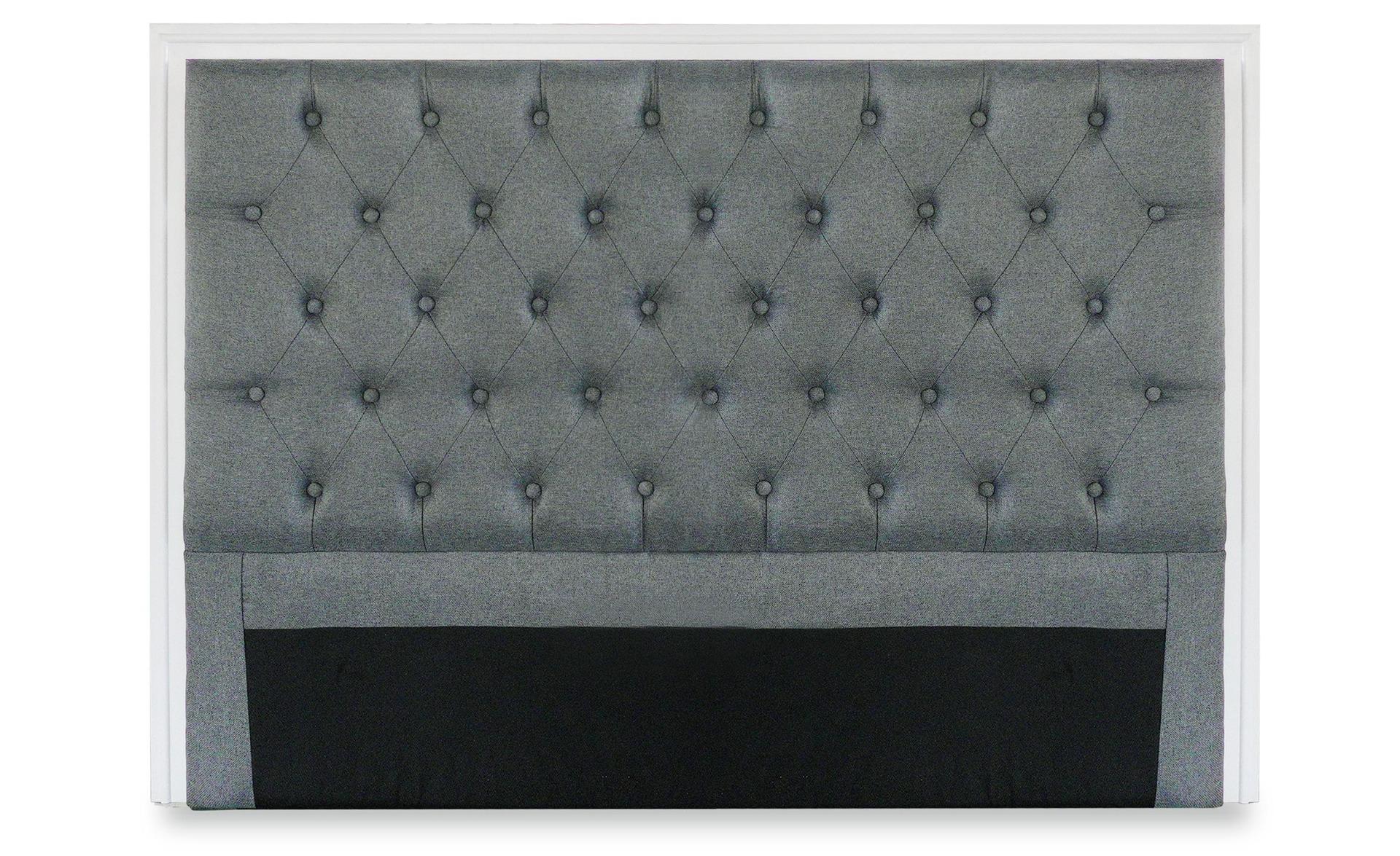 Testiera Hermione 140cm Tessuto grigio chiaro