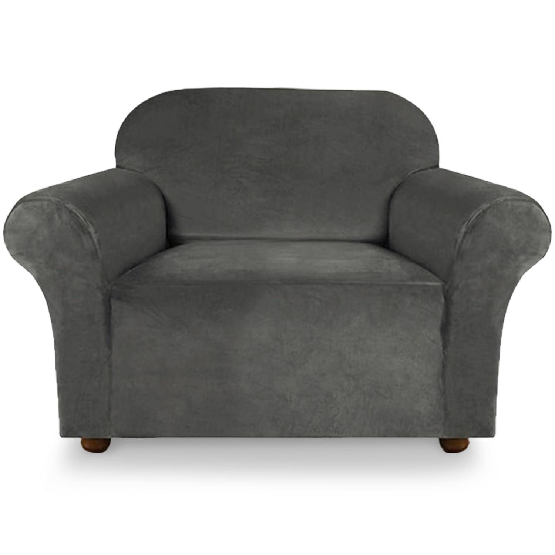 Housse de fauteuil extensible Decoprotect Velours 1 place Vert