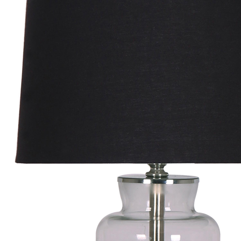 Lampada da tavolo Belgrado in vetro nero