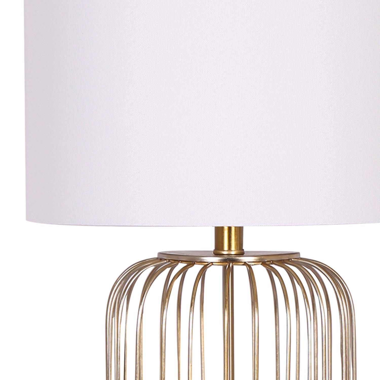 Lampada da tavolo Elysium Bianca e Oro