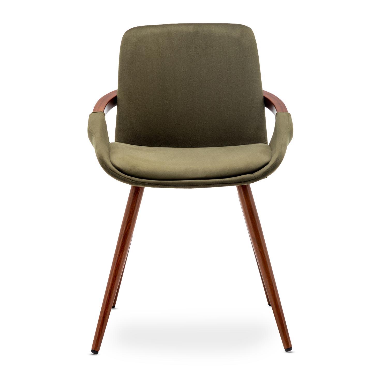 Set di 2 sedie scandinave Kilembe in velluto color cachi