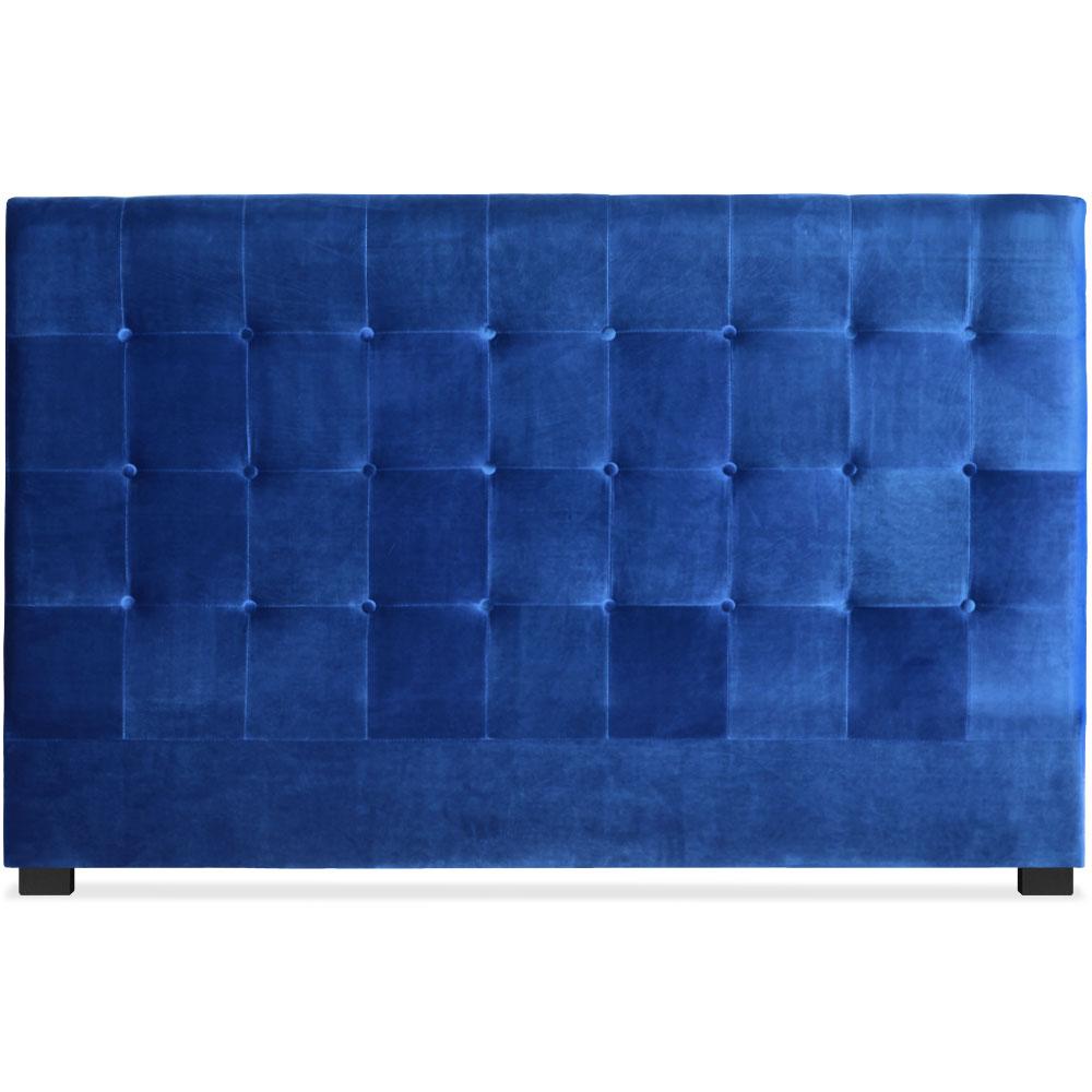 Testiera Luxor 180cm Velluto Blu