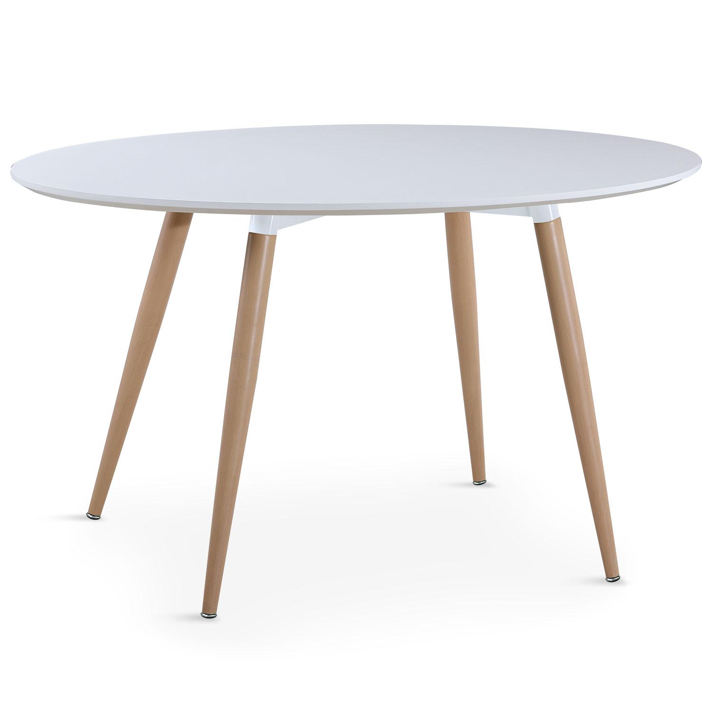 Table ronde scandinave Sissi Blanc