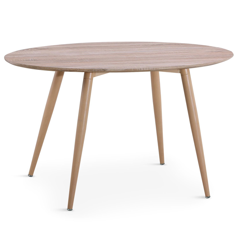 Tavolo ovale scandinavo Sissi in rovere