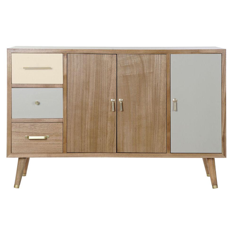 Meubles TV 3 portes 3 tiroirs Norma 120cm Bois Massif Multicolore