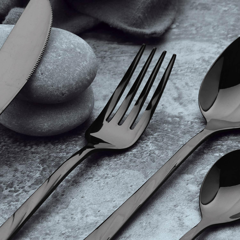 Set di 24 posate in acciaio inossidabile Minarc colore nero