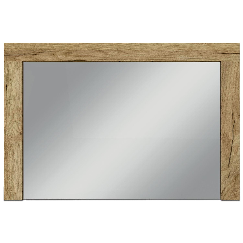 Specchio Denvera 90x60cm Rovere Chiaro