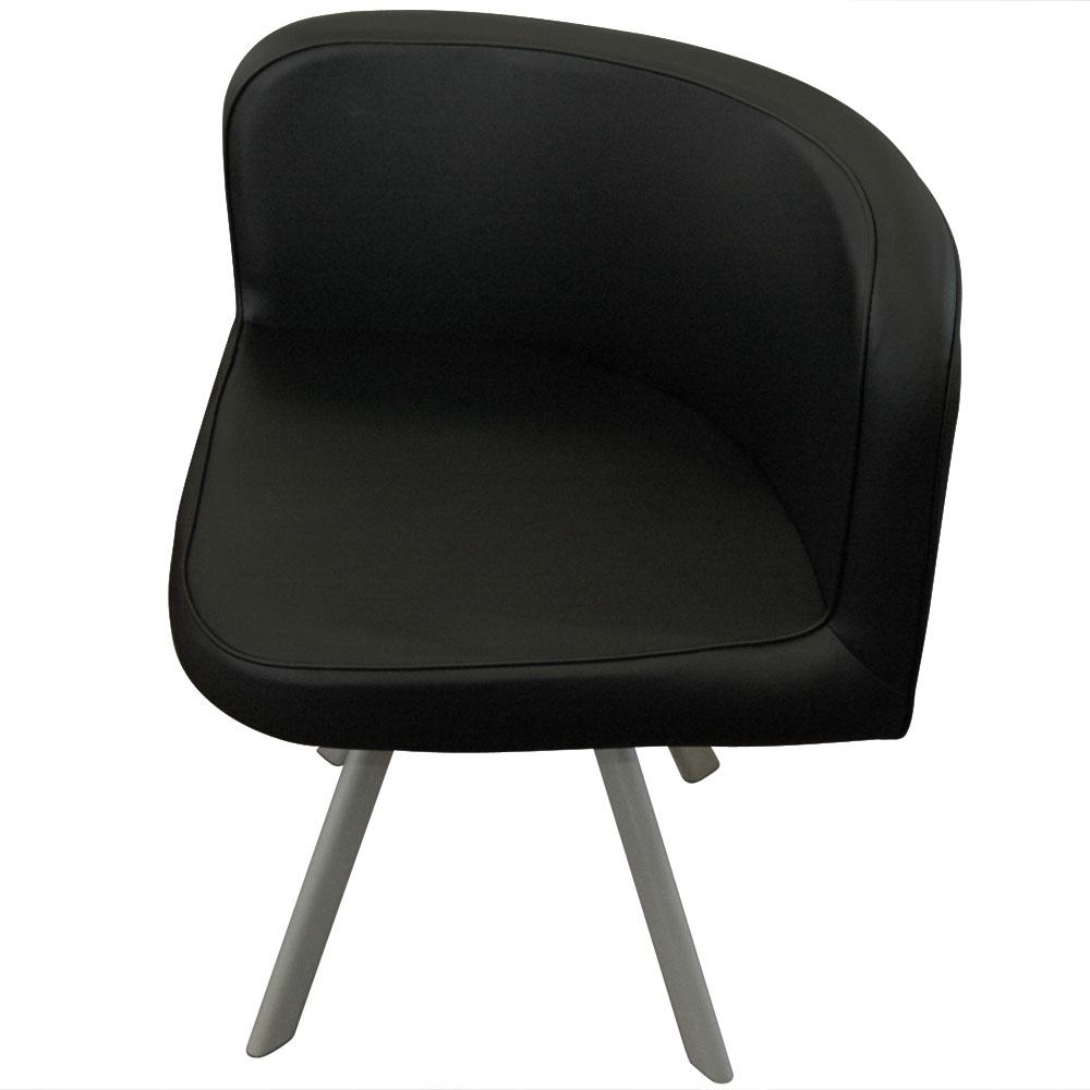 Tavolo e sedie Mosaic 90 bianco e nero