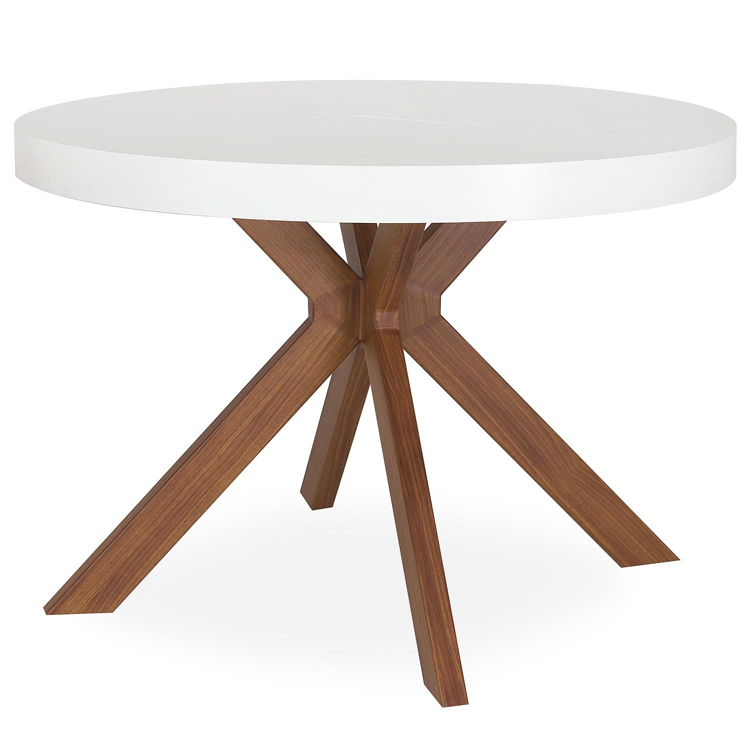 Table ronde extensible Myriade Blanc