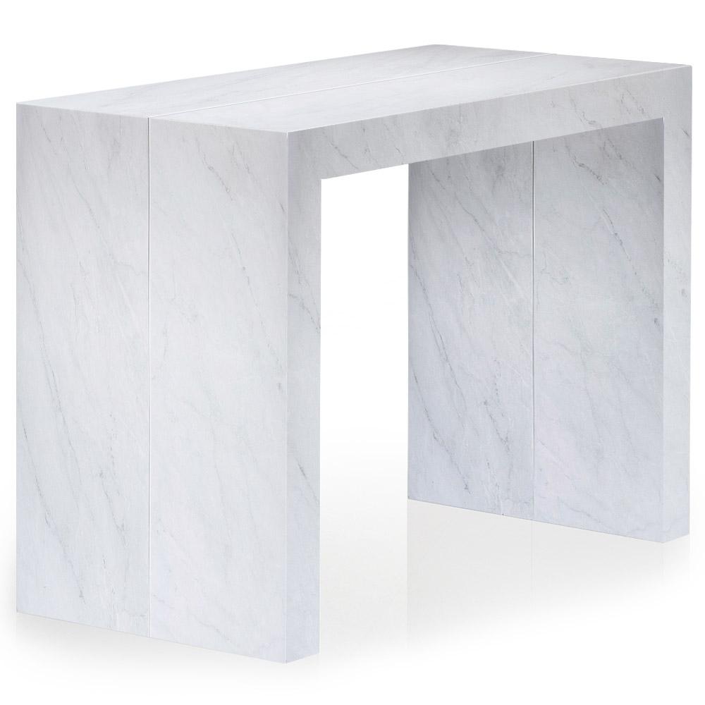 Tavolo Consolle allungabile Nassau L effetto marmo