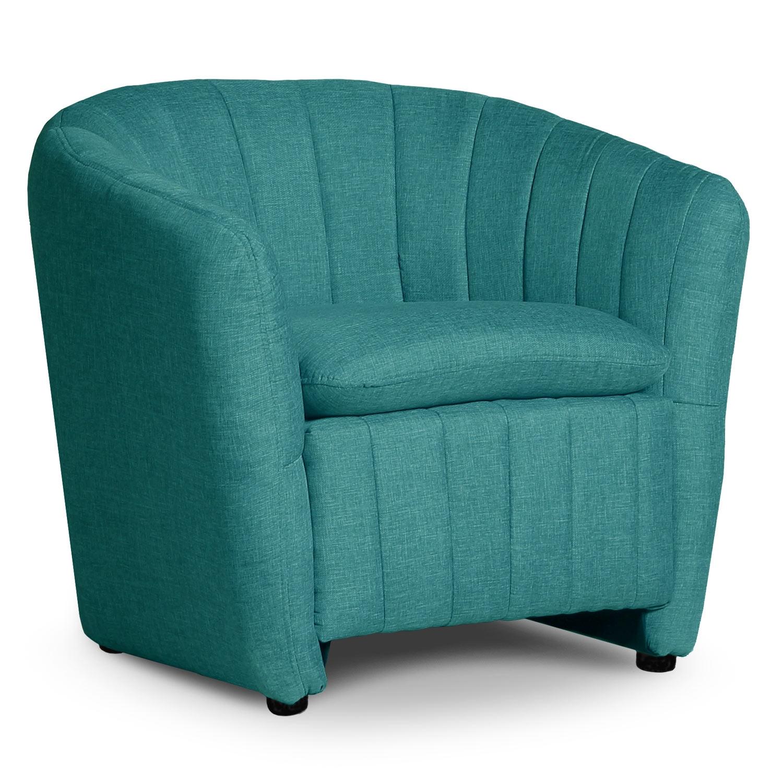 Fauteuil Noumea Tissu Bleu vert