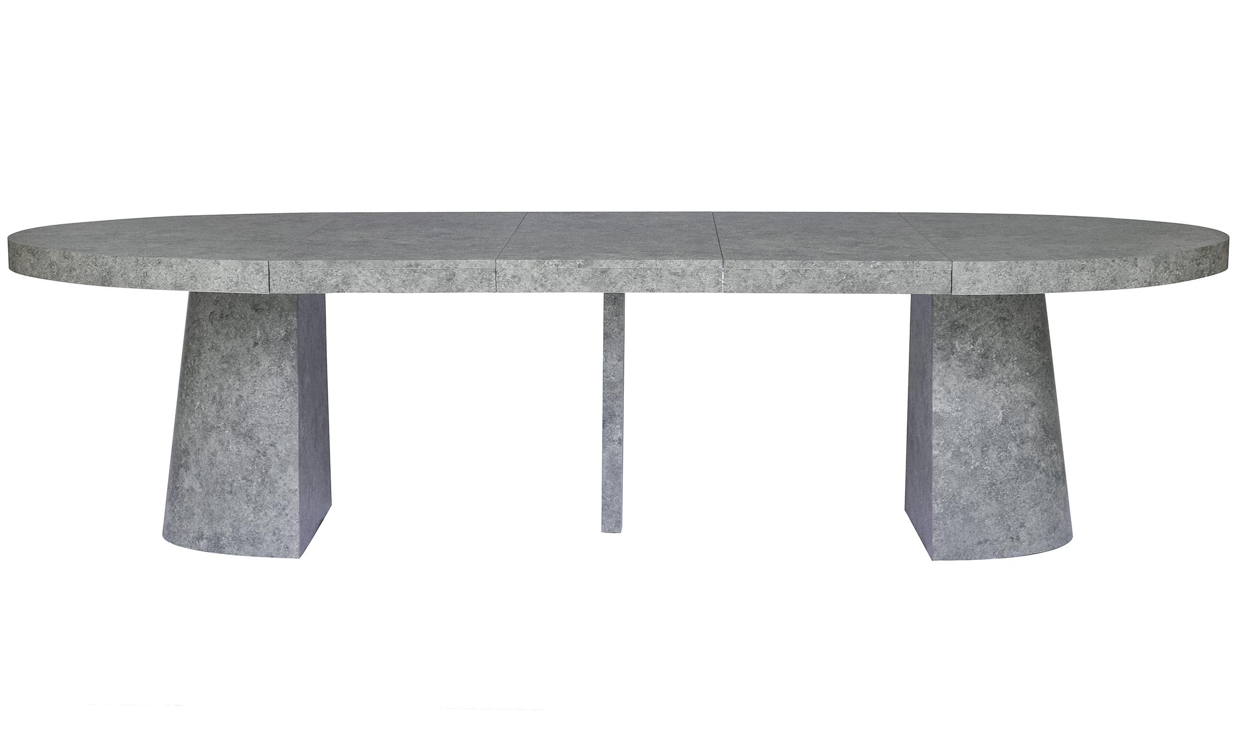 Tavolo ovale allungabile Oluze Effetto cemento