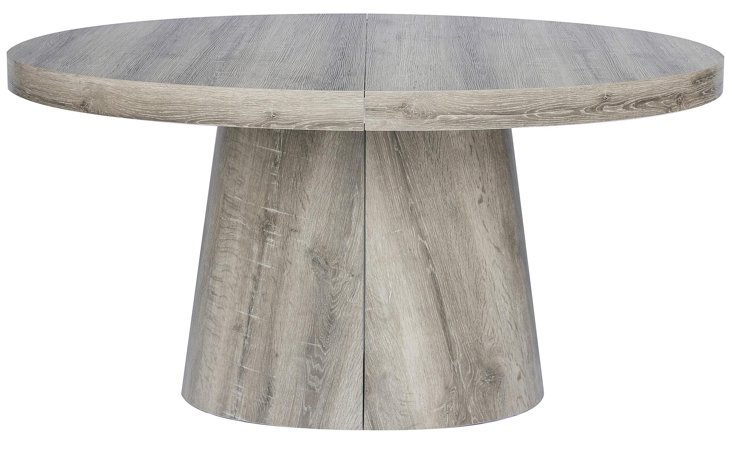 Table ronde extensible Oluze Chêne Foncé