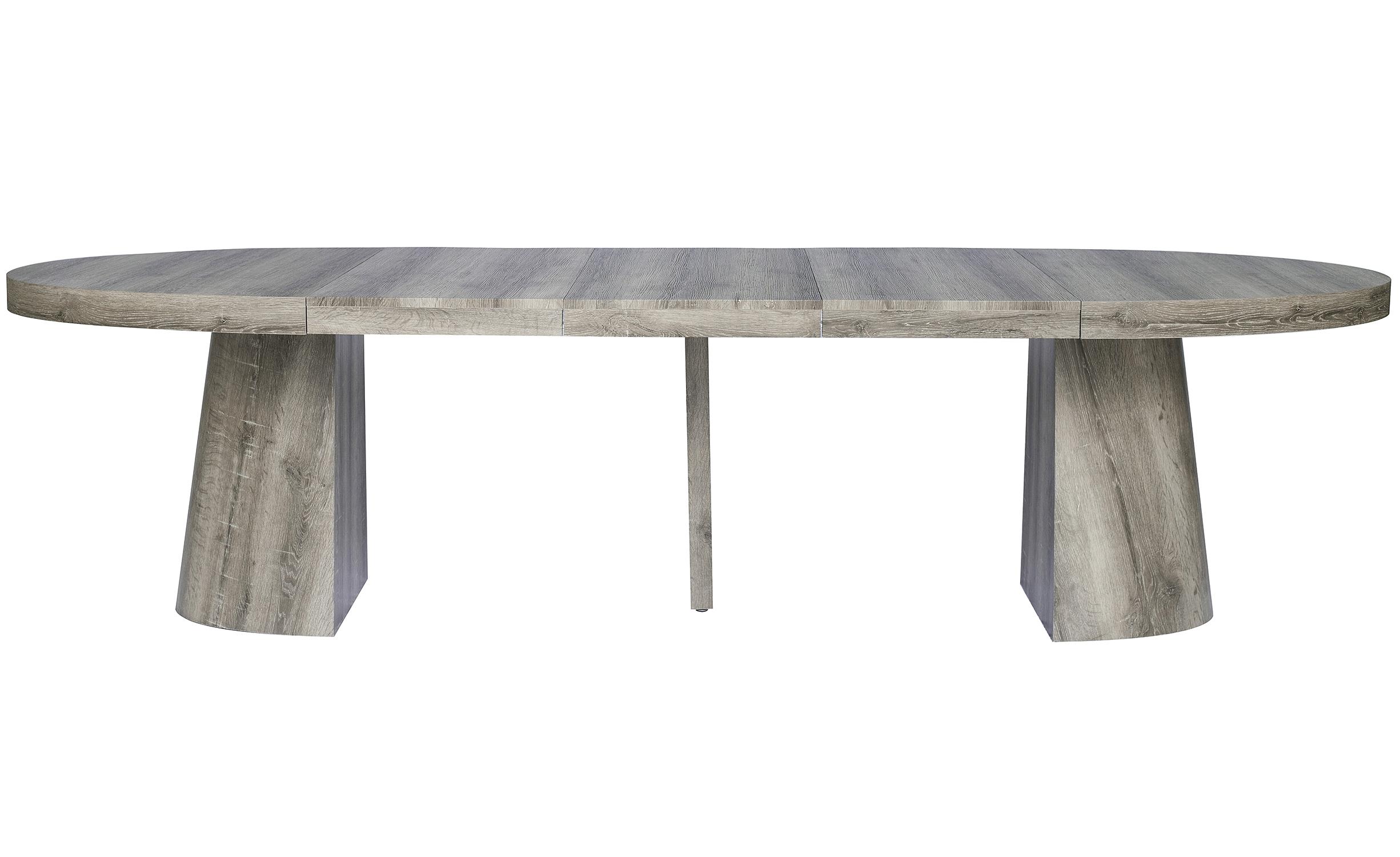 Tavolo ovale Oluze allungabile in rovere scuro