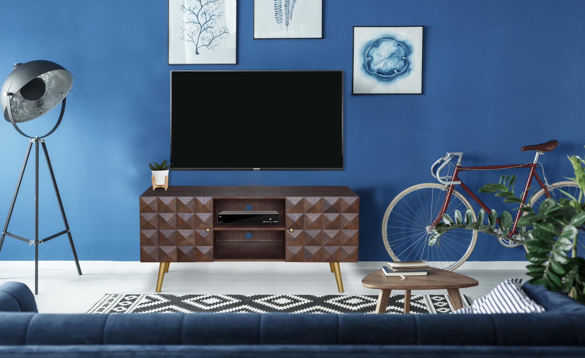 Mobile TV Sixty in legno