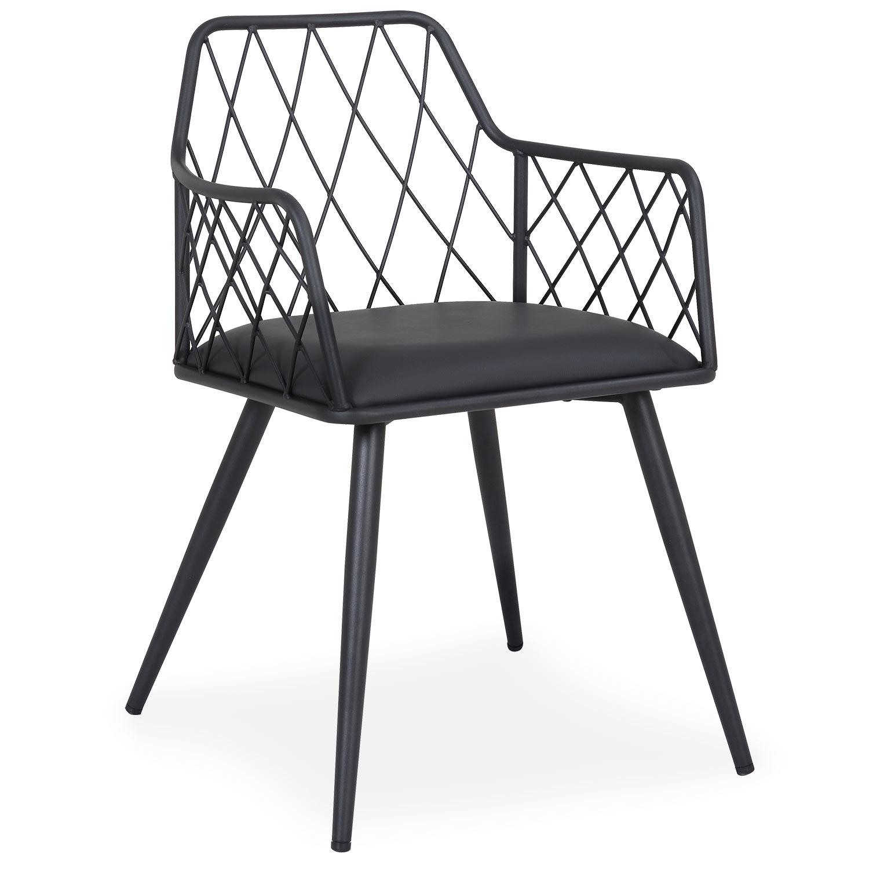 Chaise / Fauteuil Steffie Simili Noir