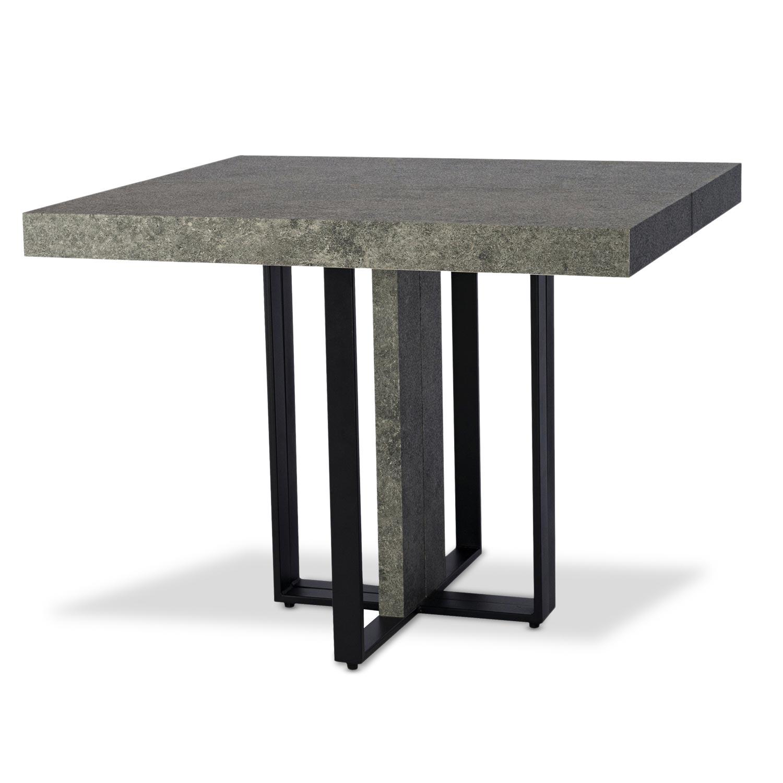Tavolo allungabile Teresa  effetto cemento Gambe Nero