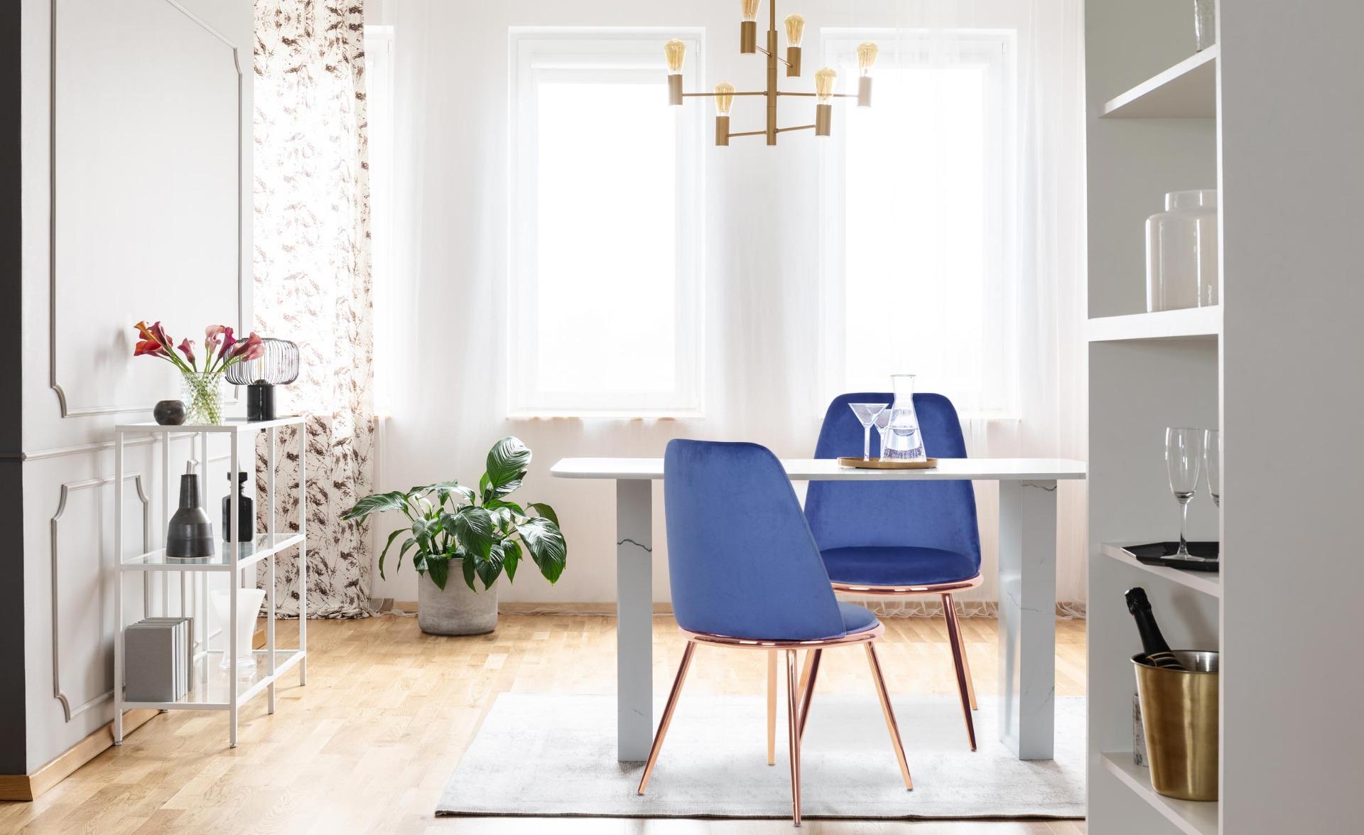 Set di 2 sedie Wallis in velluto blu