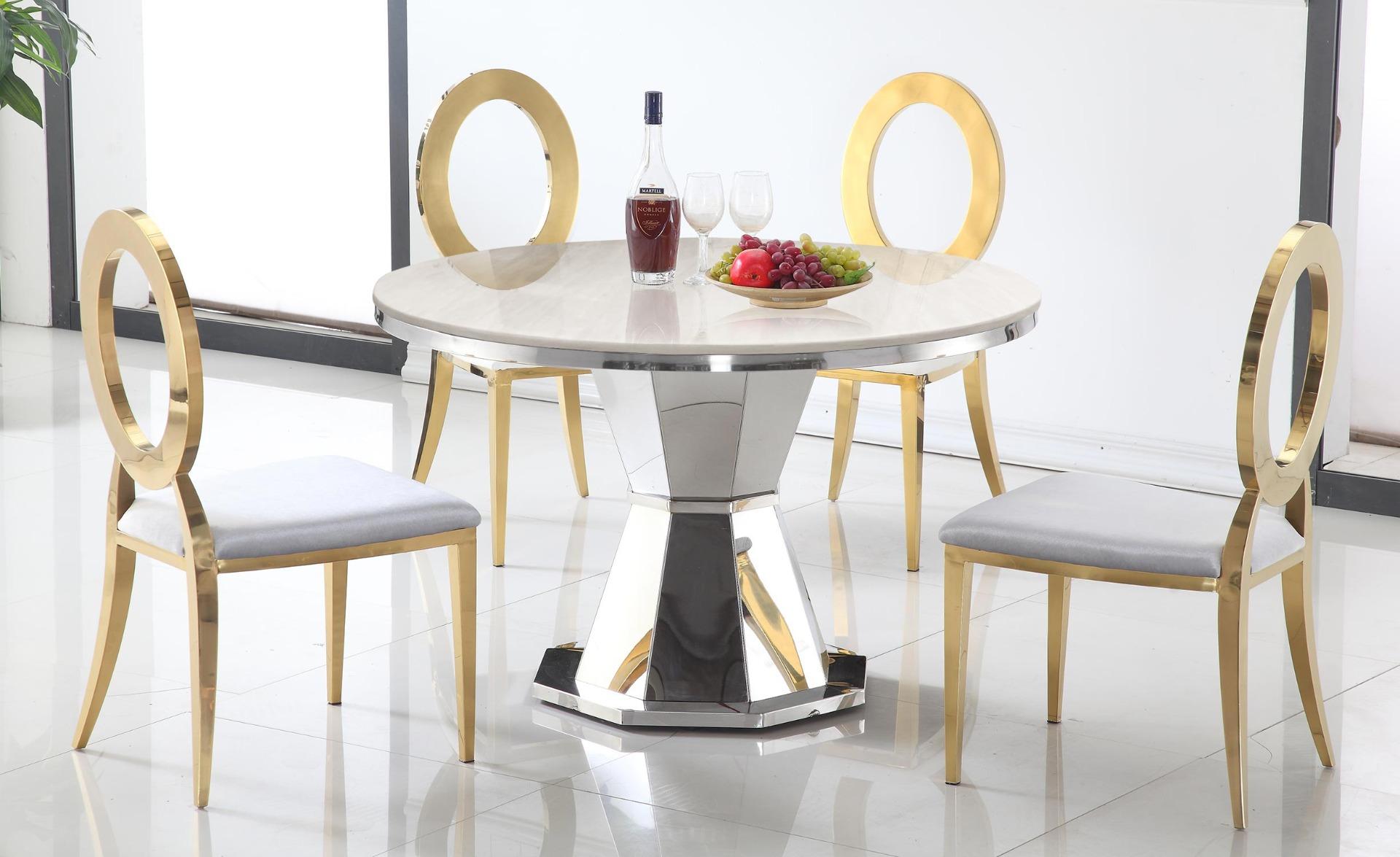 Tavolo rotondo Yvone in marmo